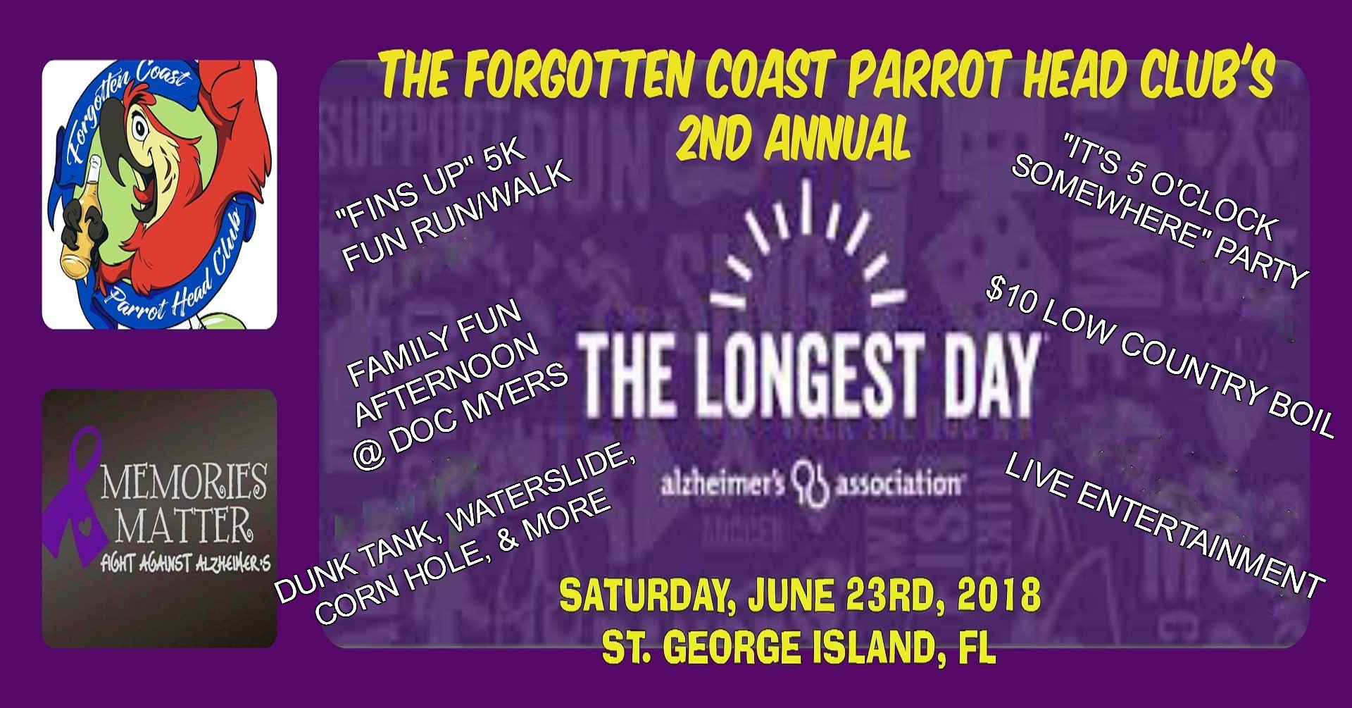 The Forgotten Coast Parrot Head Club's 2nd Annual - The